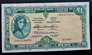 Ireland 02x Dark Mulberry Extraordinary Issue 1963 Andpound1 Lady Lavery Banknote