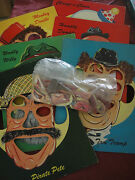 Set 6 Vintage Mix Match Face Tray Puzzles Humpty Dumpty Pirate Eyes Ears Nose