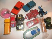 Vintage Junk Drawer Toys Ford Tractor Shell Gas Truck Tootsie Trailer