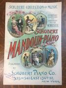 Schubert Collection Of Music For Mandolin-piano 1800s Sales Flyer Sheet Music