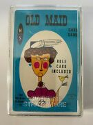 Vintage Watkins Strathmore Card Game Old Maid 1960's New In Plastic And Case