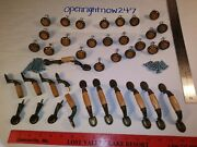 Wooden Style Look Cabinet Knobs And Handles Bundle Lot