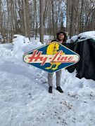 Vintage Rare Hy-line Hyline Chick Feed Farm Sign W/ Chicken Graphic Lg 60 Inch