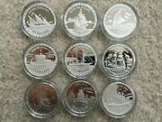 64x Legendary Fighting Ships 1 Oz Silver Proof Coins - Bismarck Mary Rose Etc.