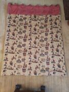 12 Thick Vintage Drapes Wild West Themed Cowboys Horses Indians 68x88 In