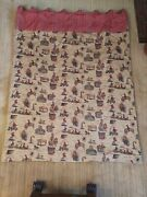 12 Thick Vintage Drapes Wild West Themed Cowboys, Horses, Indians 68x88 In