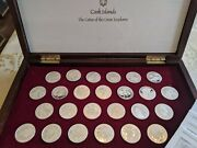 Cook Islands - Coins Of The Great Explorers - 25 Sterling 50 Coins - Complete