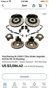 2013/14 Ford Shelby Gt500 Six Piston 15andrdquo Brembo Brake Kit M-2300-t Fits Gt Boss
