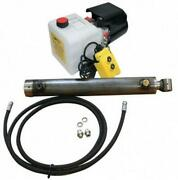 Flowfit Hydraulic 12v Dc Single Acting Trailer Kit To Lift 2.5 Tonne 400mm Cyli
