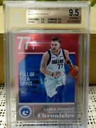2018-19 Panini Chronicles Rc Luka Doncic Red Prizm 73/149 Bgs 9.5