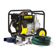 Champion Transfer Pump With Hose Wheel Kit 2 In. Gas-powered Semi Trash Water