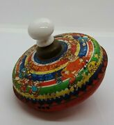 Vintage Chad Valley Tinplate Spinning Top Sing A Song Of Six Pence
