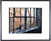 Well Known Photographer Mike Peters Signed An Autumn Outside The Broken Window