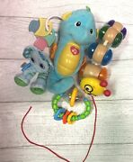 Fisher-price Soothe And Glow Seahorse Rattler Teether Keys Toy Baby Lot Gifts
