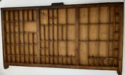Antique Wooden Letterpress Printer Tray Drawer Display Case Cabinet Hanging Wall
