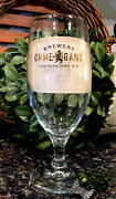 Limited Edition Ommegang Brewery Tulip Footed Gold Foil Logo Pint Glass Pristine