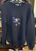 Lacoste Crew Neck Astronaut Embroidery Cotton Sweater No Size Tag Read Desc New
