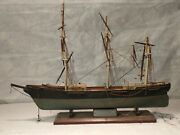 Red Jacket Model Ship By Piel Craftsman, About 7in. X 5in. X 1½ Needs Repair.