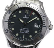 Omega Seamaster300 2251.80 Date Navy Dial Automatic Boyand039s Watch_598825