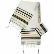 Black Messianic Tallit New Covenant Prayer Shawl 72 X 22 From The Holy Land