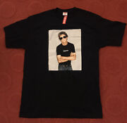 Vintage Supreme X Lou Reed Black Xl T-shirt S/s 2009 Deadstock New W/ Tag Ss09t1