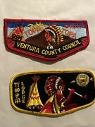 Topa Topa Oa Lodge 291 Flaps,lot Of 2, Ventura County Council Order Of The Arrow