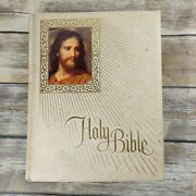 Large Vintage Holy Bible King James Version Religious Art Illustrated Pictorial