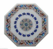 24 Marble Dining Table Top Inlay Rare Semi Antique Center Coffee Table Ar0964