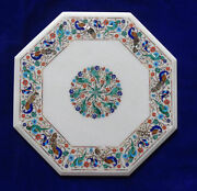 24 Marble Dining Table Top Inlay Rare Semi Antique Center Coffee Table Ar0969