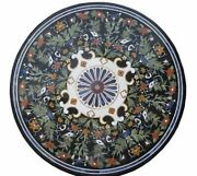 36 Marble Dining Table Top Inlay Rare Semi Round Center Coffee Table Ar0990