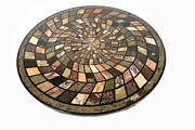 36 Marble Dining Table Top Inlay Rare Semi Round Center Coffee Table Ar0993