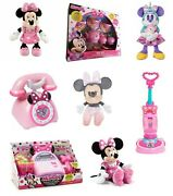 Official Disney Minnie Mouse Soft Plush Toy Doll / Assorted Playset Playsets