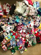 Lot Of 230 Pairs Of Novelty Socks Kids And Womens Colorful Holiday Brand New