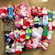 Lot Of 120 Pairs Of Novelty Socks Kids Valentines Colorful Holiday Brand New