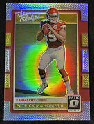 Patrick Mahomes 2017 Donruss Optic 7 The Rookies Refractor Rc Holo Silver Prizm