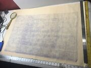 """Chris Craft Boat Floor Plan Chris Smith Drawing 400 Model 26"""" March 5 1932 1/1"""
