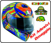 Helmet Motorcycle Agv K3 Sv Valentino Rossi 46 Five Continents Stickers Helm