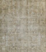 Muted Semi Antique Traditional Area Rug Distressed Handmade Square Carpet 10x10