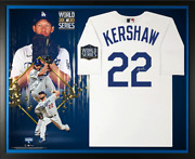 Clayton Kershaw Los Angeles Dodgers Signed 2020 Mlb World Champions Jersey Frame
