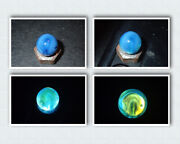 Marbles Rare Christensen Agate Hand Gathered Pee Wee Opalescent Uv Blue 0.372andrdquo Q