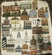 Cats Meow Village Lot Choose From Huge Collection Wooden Houses Buildings W/ Cat