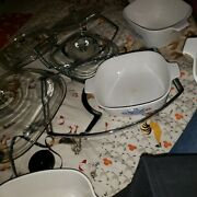 Vintage Corning Ware Dish Set With Lids And Tray