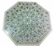 36 Marble Dining Table Top Inlay Rare Semi Antique Center Coffee Table Ar1059
