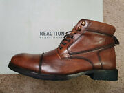 Kenneth Cole Reaction Leather Men Brewster Jack Boot 9.5m Cognac Dsgn 212705 Nwt