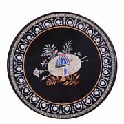 36 Marble Dining Table Top Inlay Rare Semi Round Center Coffee Table Ar1077