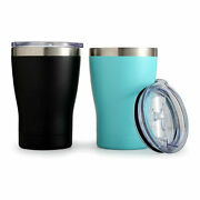 25pcs10oz Stainless Steel Coffee Mugs Beer Tumbler Sublimation Sliding Lid