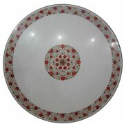 36 Marble Dining Table Top Inlay Rare Semi Round Center Coffee Table Ar1118