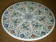 36 Marble Dining Table Top Inlay Rare Semi Round Center Coffee Table Ar1122