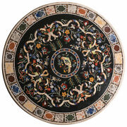 36 Marble Dining Table Top Inlay Rare Semi Round Center Coffee Table Ar1127