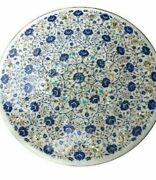 36 Marble Dining Table Top Inlay Rare Semi Round Center Coffee Table Ar1133